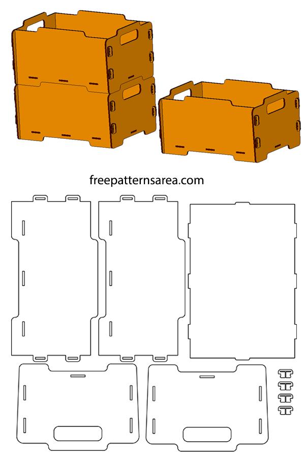 Laser Cut Stackable Mdf Storage Box Idea