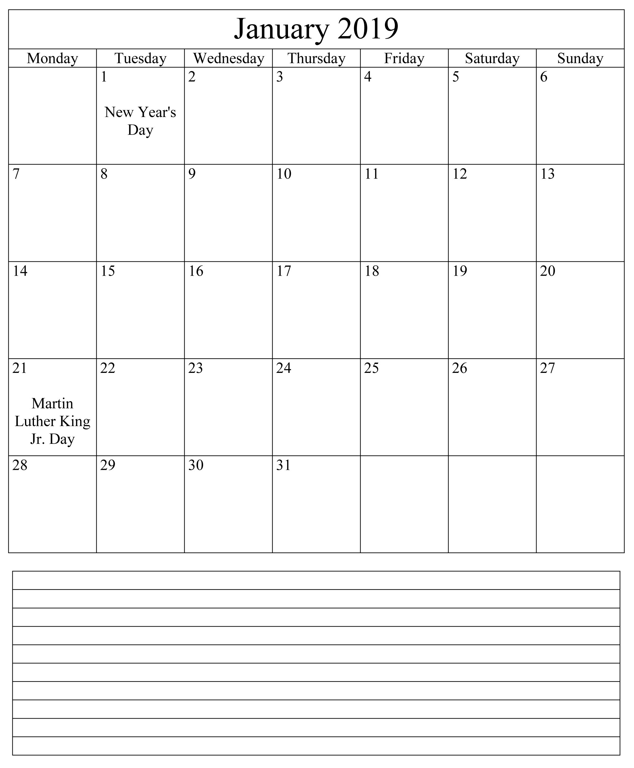 Wedding decorations at the beach january 2019 Calendar January  Excel  Academic Calendar  January For