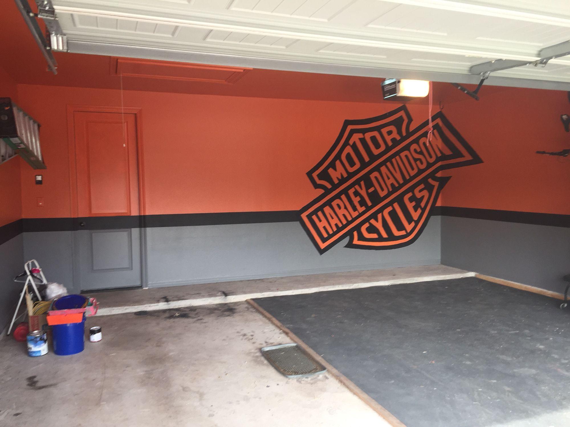 Harley Davidson Garage Garage Makeover Harley Davidson Decor Man Garage