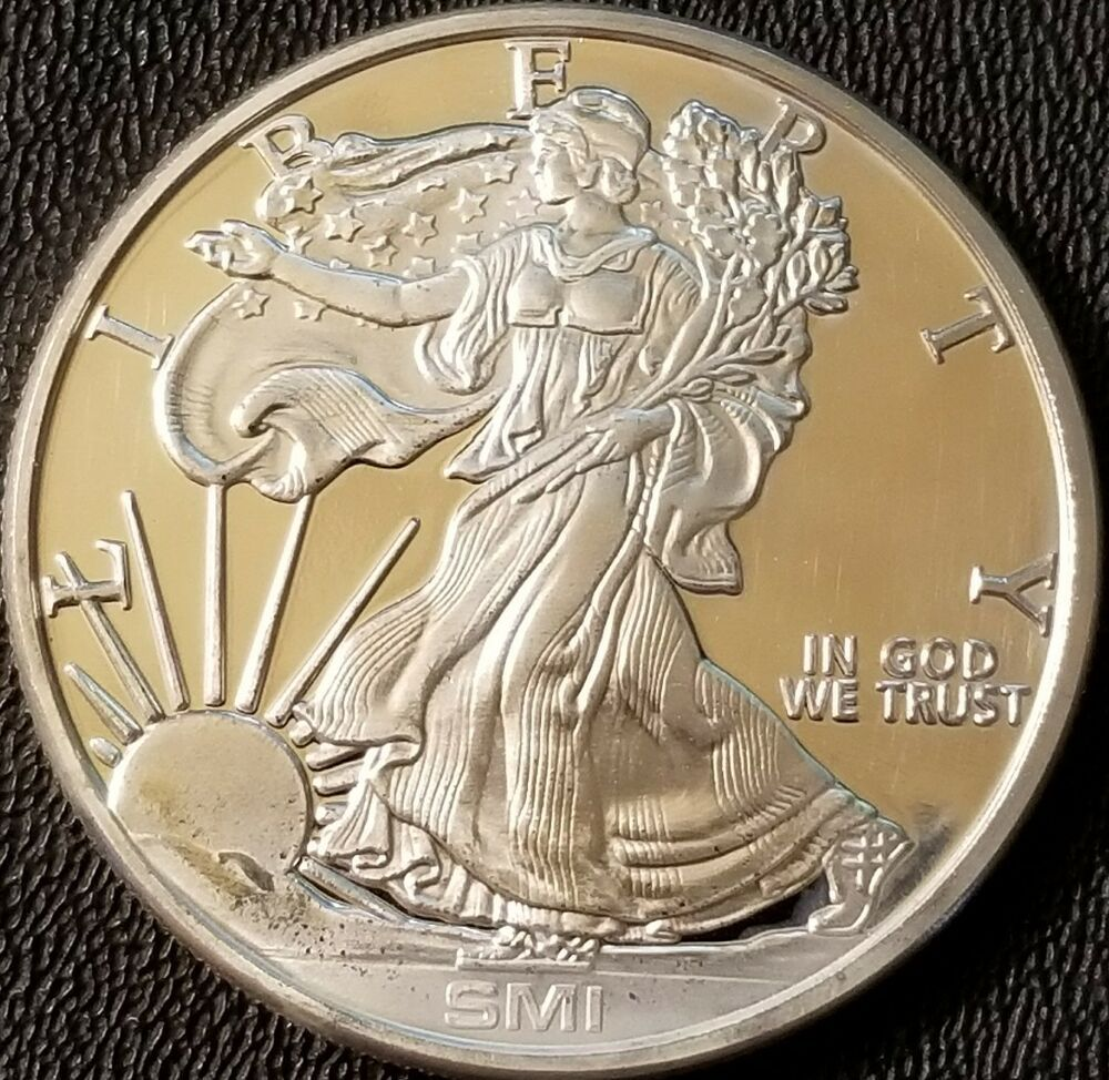 Sunshine Mint Walking Liberty 1 Oz 999 Fine Silver Bullion Coin Milk Spots Silver Bullion Coins Silver Bullion Bullion Coins