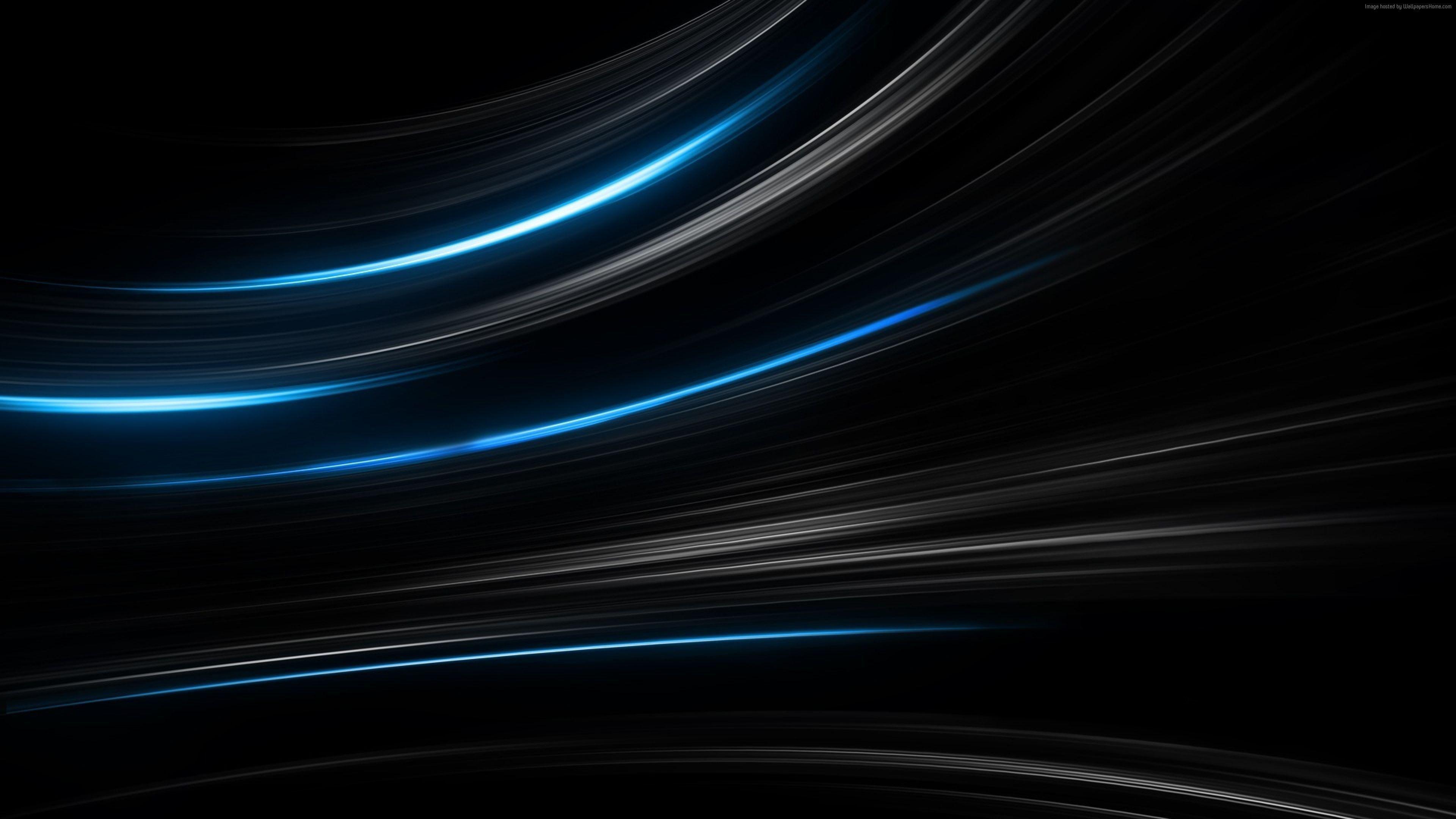 Black 4k Blue Lines 4k Wallpaper Hdwallpaper Desktop Black And Blue Wallpaper Dark Blue Wallpaper Abstract Wallpaper