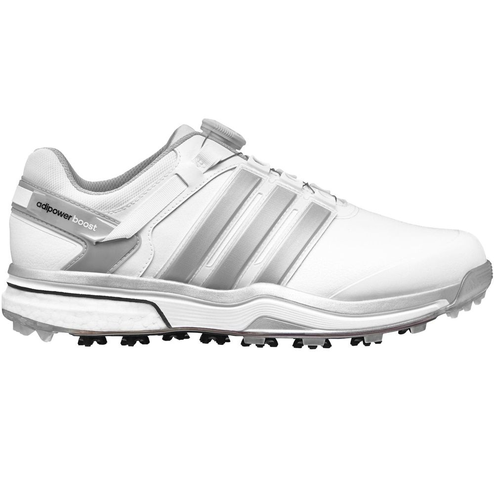 Adidas Adipower BOA Boost Golf Shoes Closeout White/Silver