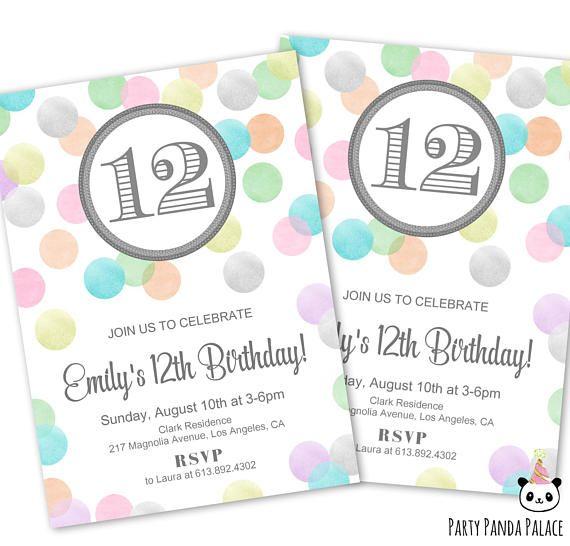 12th birthday invitations tween birthday party invitation 12th birthday invitations tween birthday party invitation filmwisefo