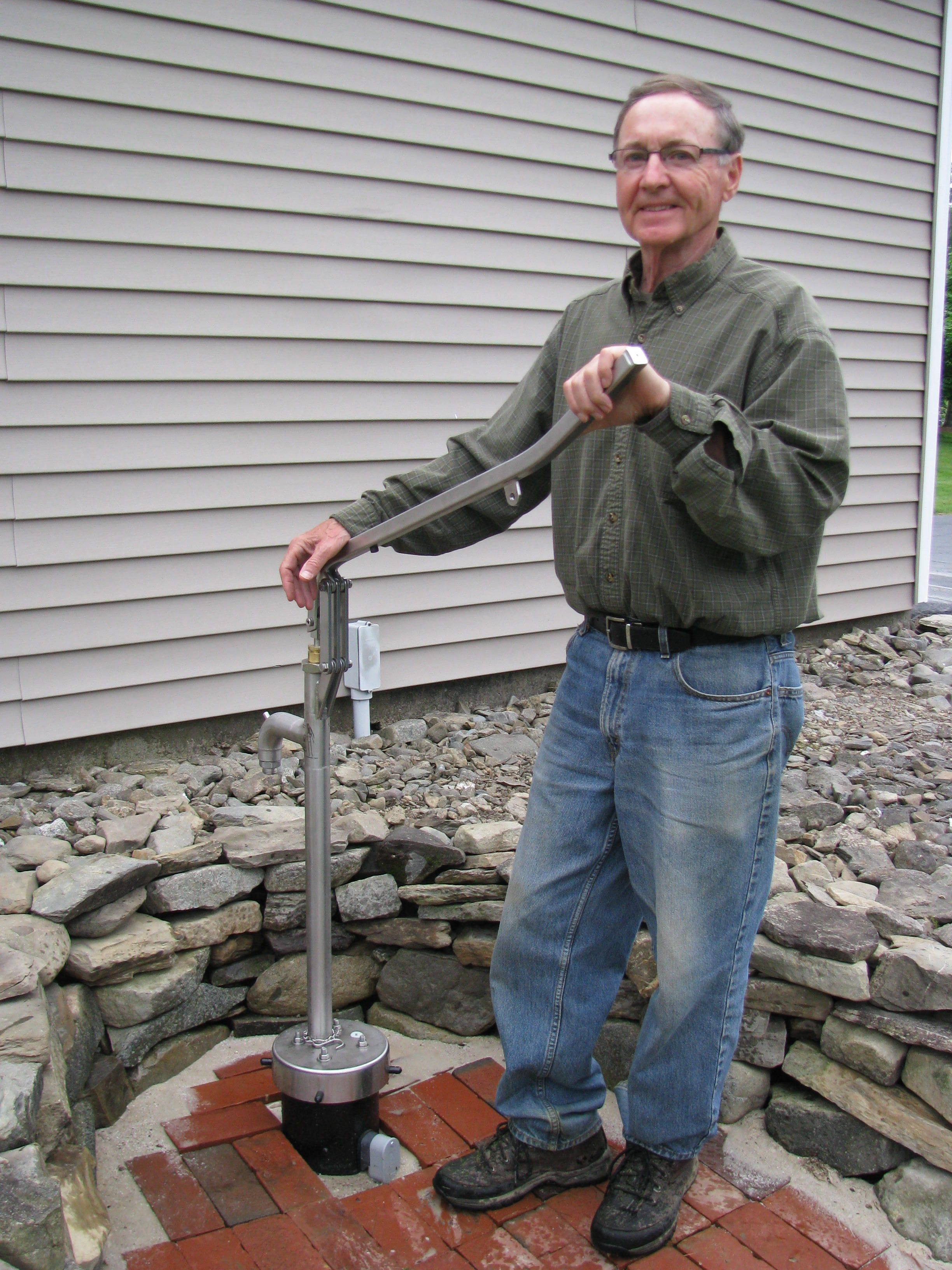 Mr. E from northern Maine is very proud of his Bison deep well hand pump!