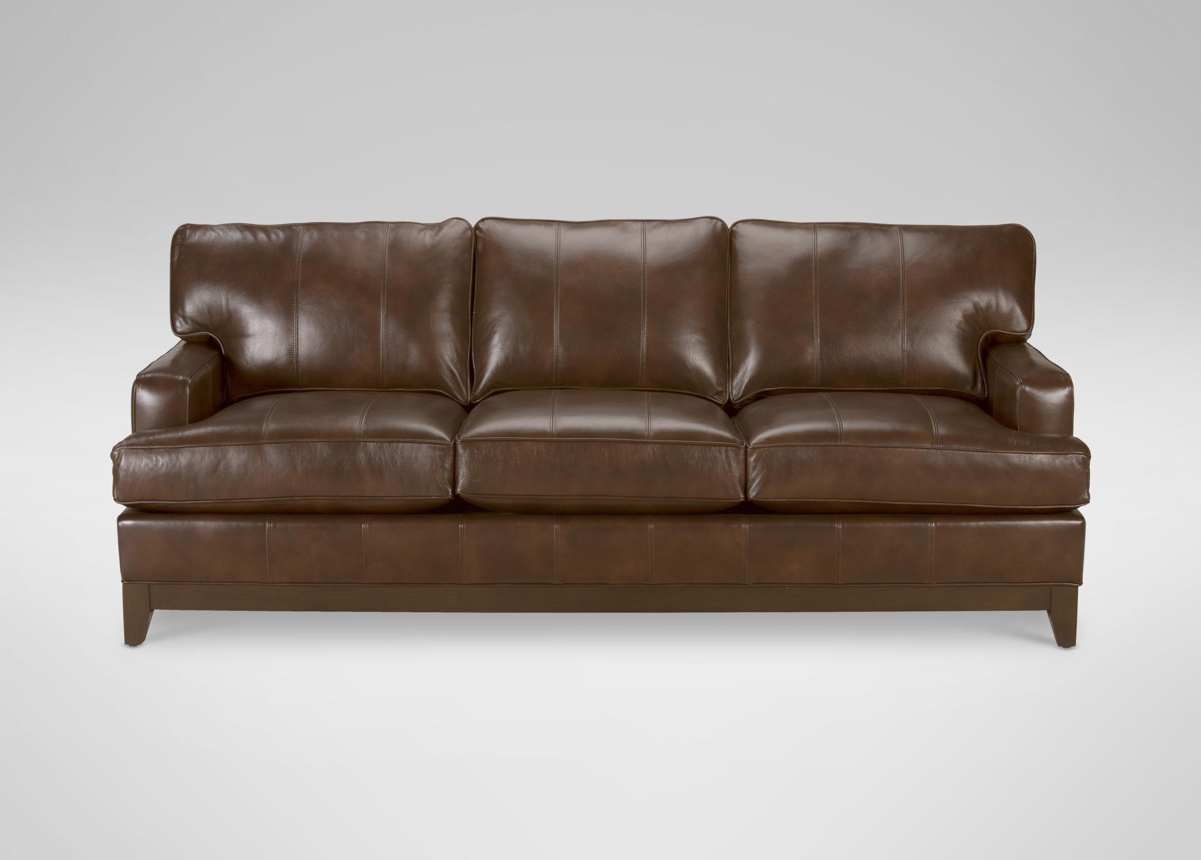 Ethan Allen Arcata Leather Sofa Quick Ship Sofas Loveseats