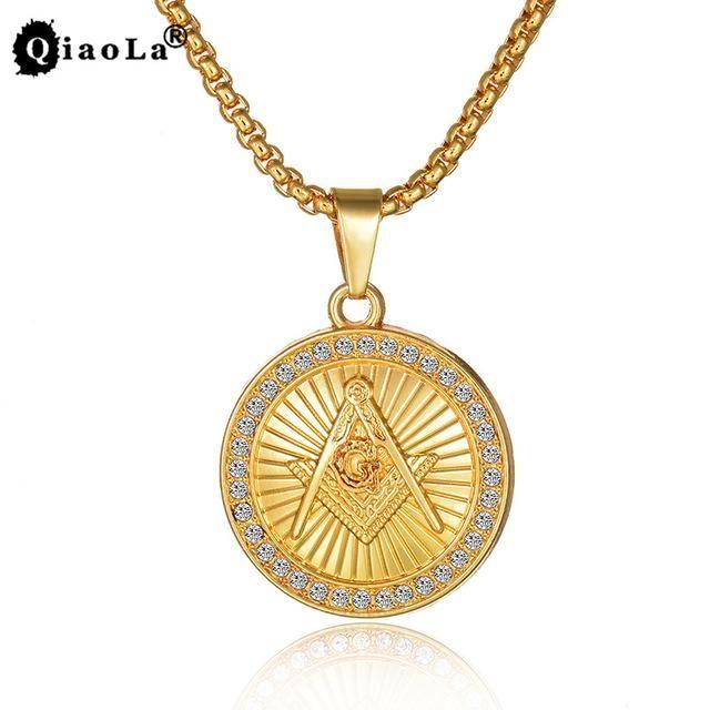 18k masonic freemason necklace pendants and products 18k masonic freemason necklace aloadofball Gallery