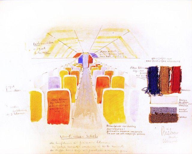 KLM World Business Class cabin interior - Colour Palette |Jongeriuslab design studio