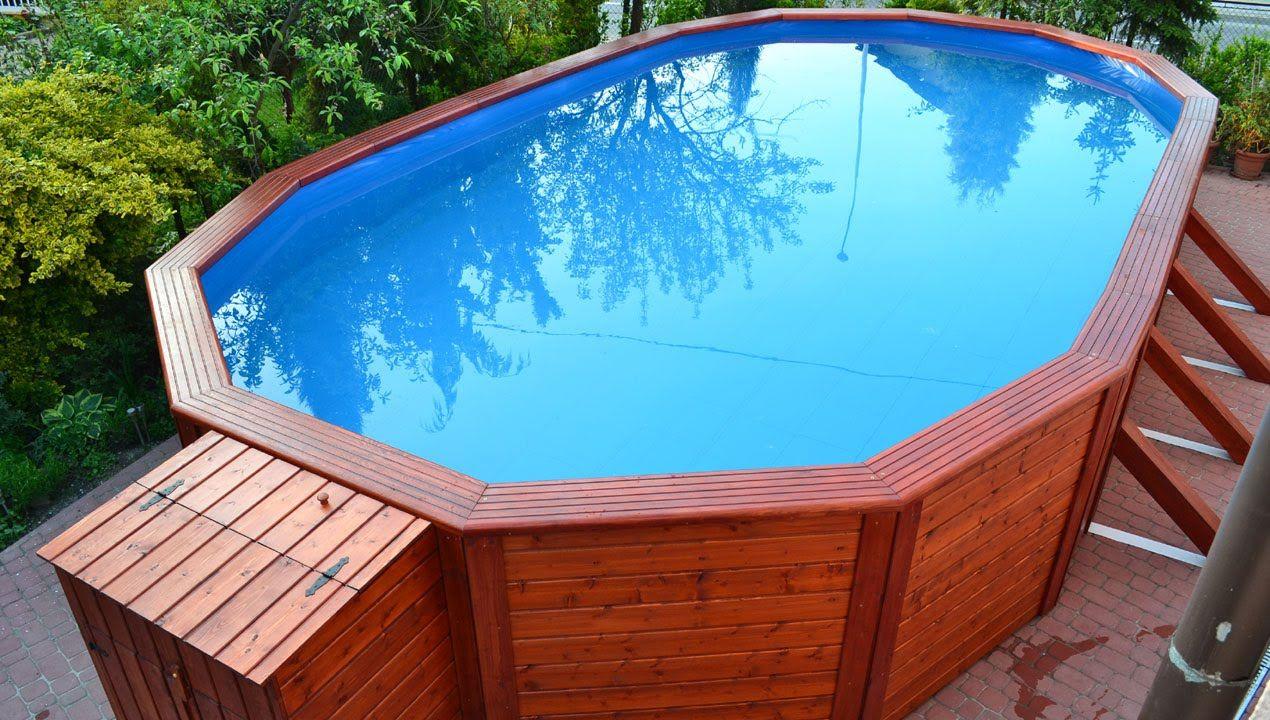 Basen Z Drewnianym Telazem Http Ogrodosfera Pl Baseny Stelazowe Outdoor Decor Hot Tub Outdoor