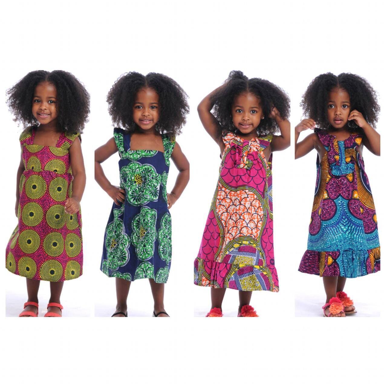 Children clothes. African print dresse
