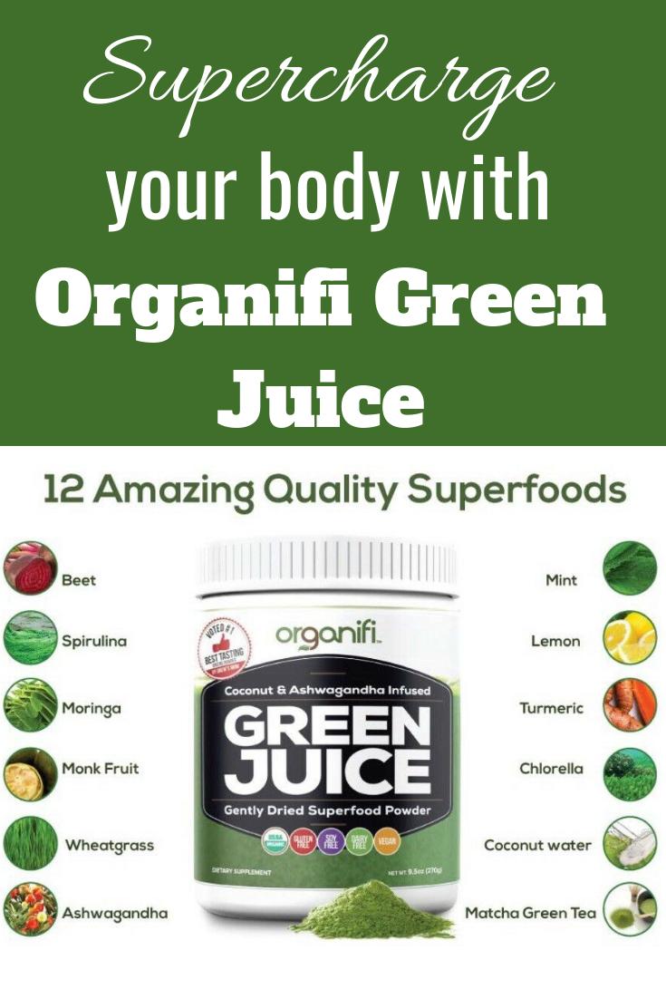 Organifi Organic Green Juice Superfood Powder 9 5 Oz Sealed Organifi Green Juice Green Juice Superfood Powder