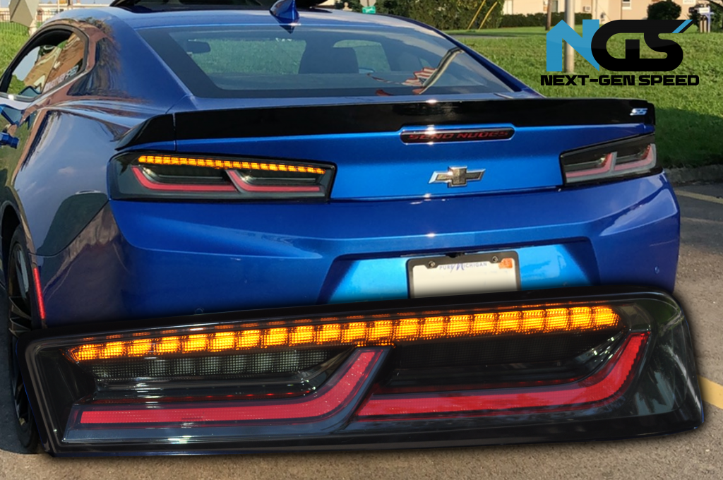 Smoked Sequential Tail Lights Amber Signal 2016 2018 Chevy Camaro Next Gen Speed Tail Light Camaro Led Tail Lights