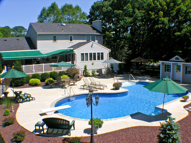 pool town nj inground swimming pools full backyard entertaining