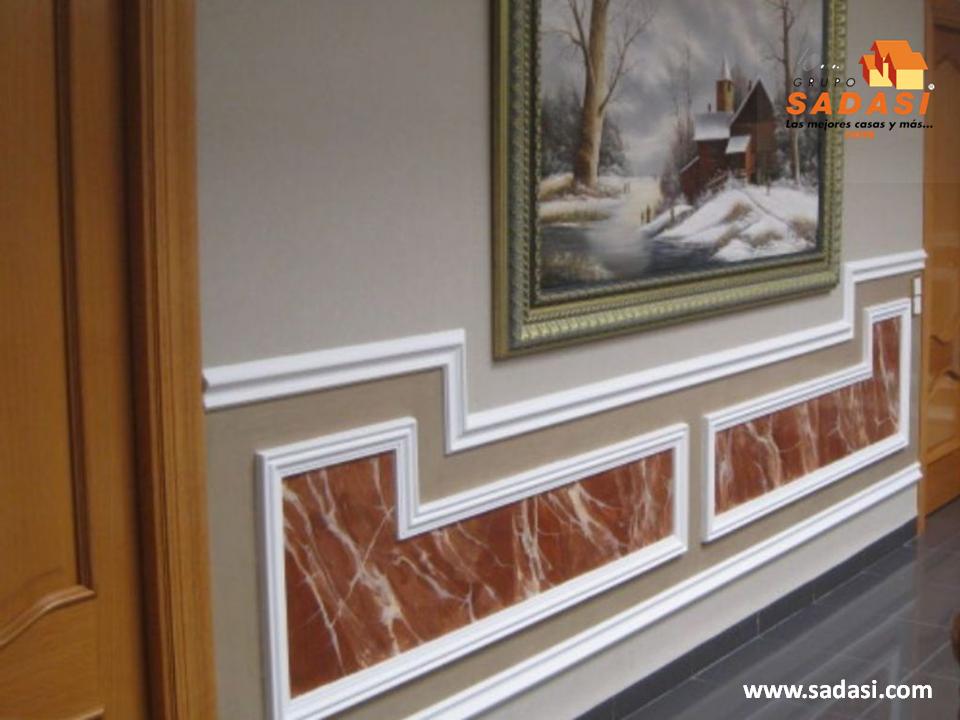 Decoracion las mejores casas de m xico las molduras para for Molduras de madera para pared