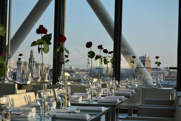 [Le Georges] French restaurant. The food is good but rather expensive. Probably one of the best rooftops in Paris, located on top of Beaubourg Museum (be sure the weather is clear to enjoy) :) http://restaurantgeorgesparis.com/fr/