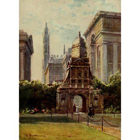 Cambridge 1907 Caius college Gate of Honour Canvas Art - William Matthison (18 x 24)