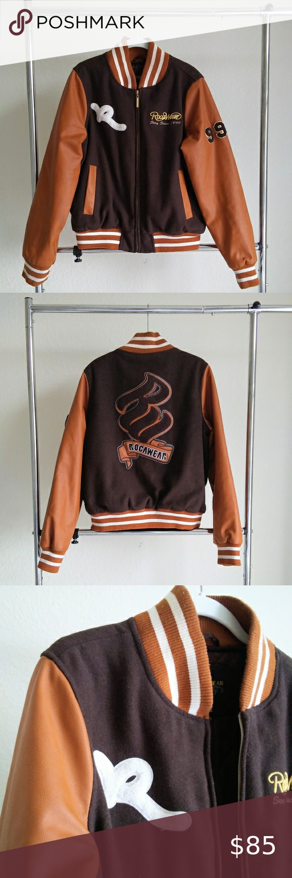 Vintage Rocawear Letterman Jacket Rocawear Jackets Letterman Jacket [ 1740 x 580 Pixel ]