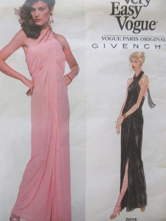 Vintage Vogue 2014 Sewing Pattern, Givenchy Design, 1970s Evening ...