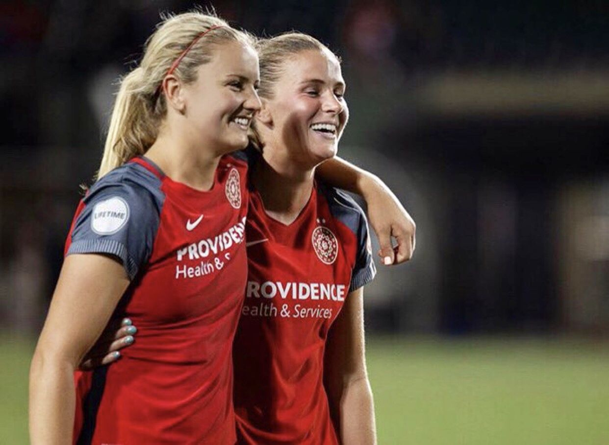 Lindsey Horan And Ana Crnogorcevic Portland Thorns Portland Thorns Boss Lady Nwsl