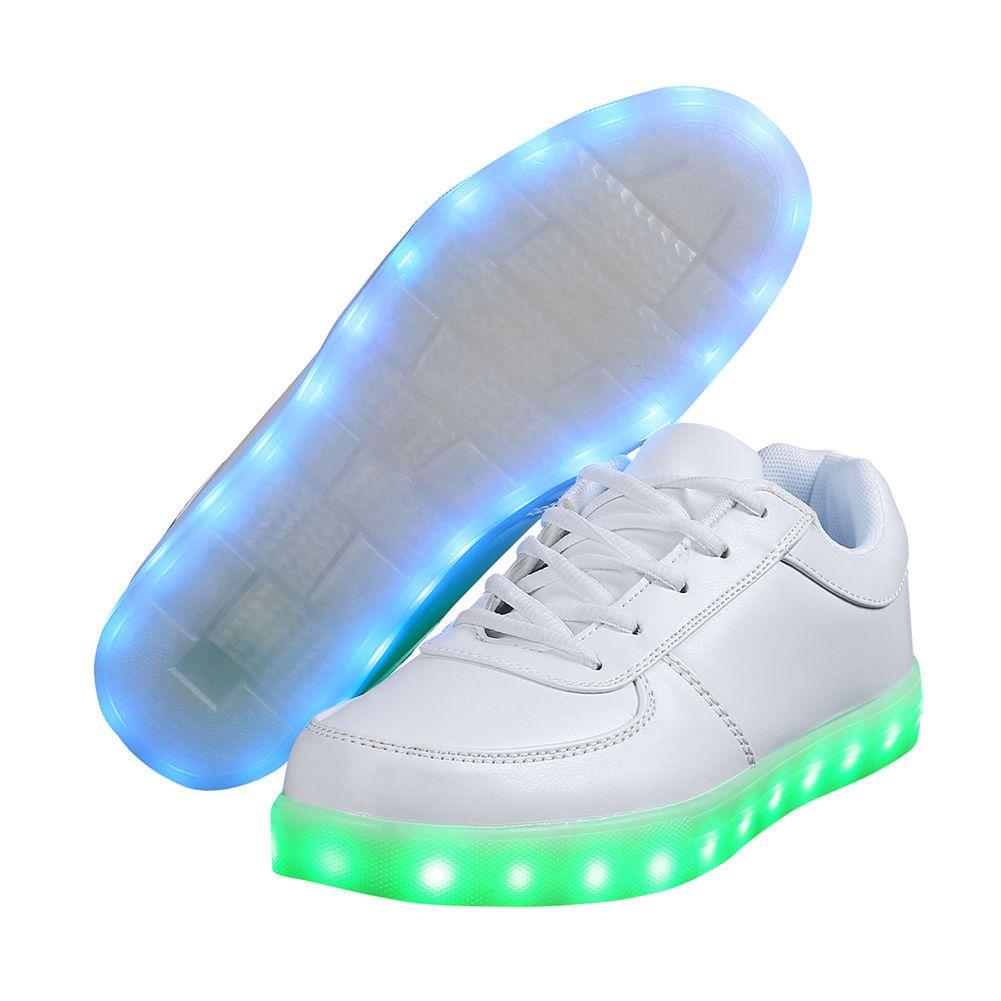 uk herren damen led schuhe licht wei farbwechsel leuchtende sneaker blinkschuhe in kleidung. Black Bedroom Furniture Sets. Home Design Ideas