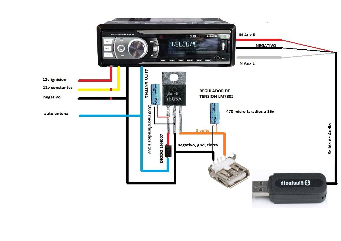 Circuito Bluetooth Casero : Poner bluetooth para autoestereo dub seat alana sony etc
