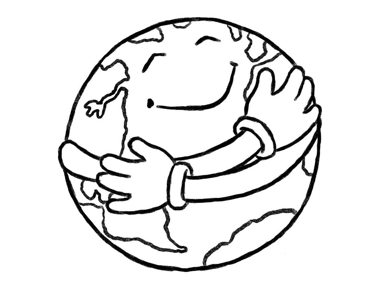 Desenhos Para Colorir Do Planeta Terra Sorrindo 03 Desenhos Para