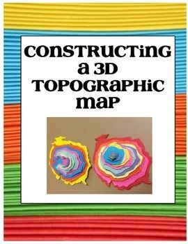 Topographic Map Of A Mountain.This Project Allows Students To Convert A 2d Topographic Map Of A