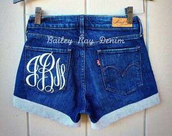 Levis High Waisted Cut Off Jean Denim Shorts by BaileyRayDenim
