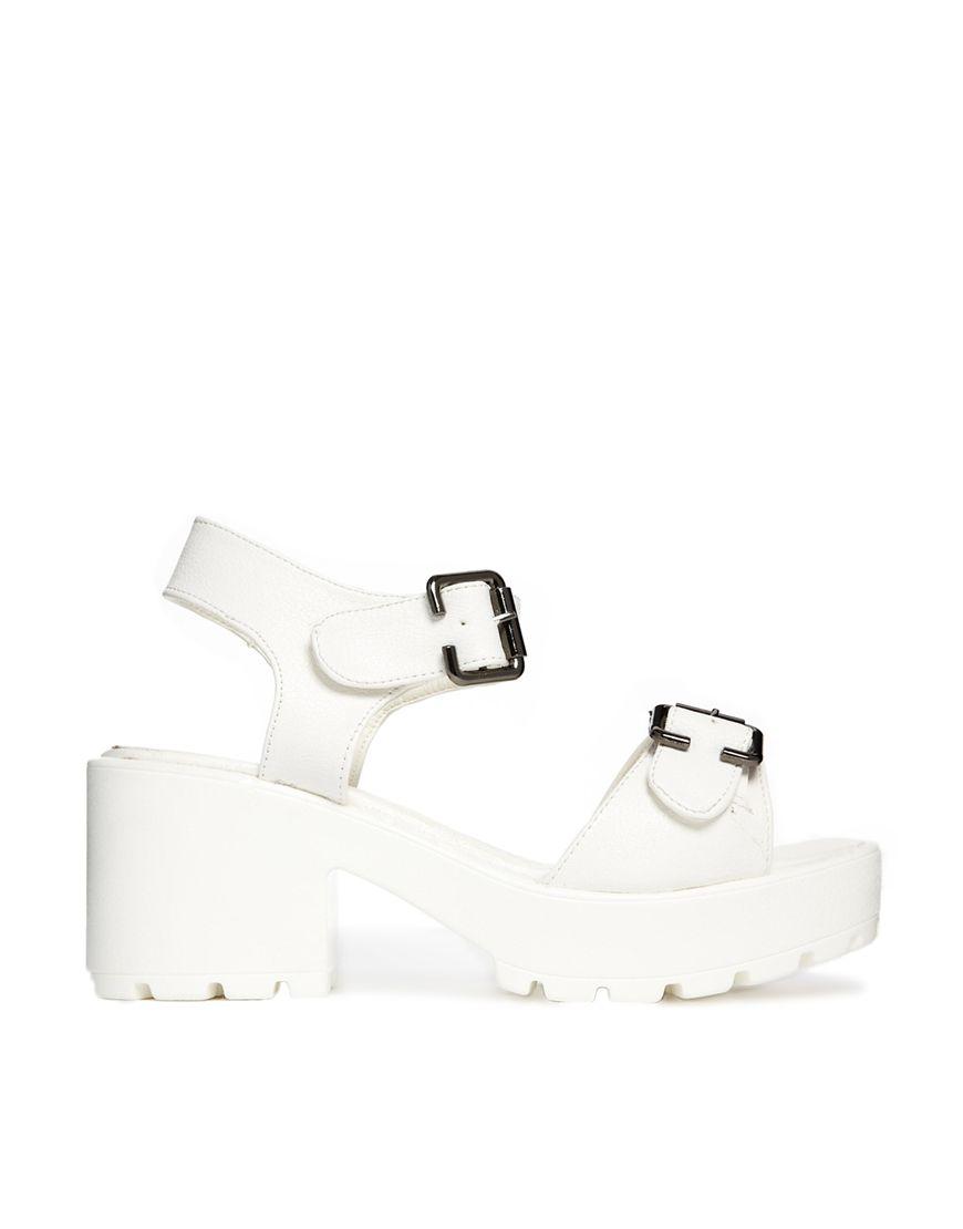 Platform Sandal - White Truffle eOkDDAgtF