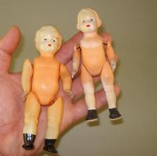 2 Old Small Celluloid Doll,Unmarked,East Europe