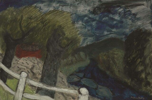 Milton Avery (American, 1885-1965),The Blue Brook, Vermont. Oil on canvas, 24 x 26 in.