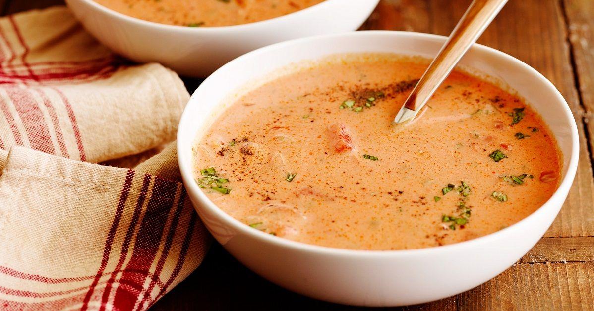 Un petit classique de fin d 39 t la d licieuse soupe aux tomates maison soupes et potages - Potage a la tomate maison ...