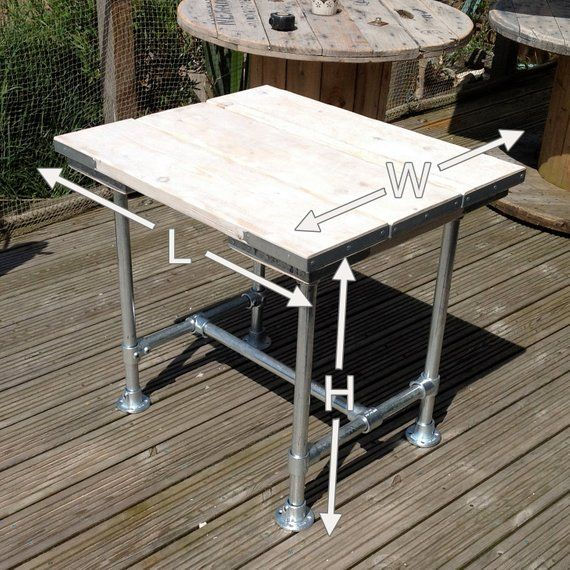 Industrial Style Scaffold Board / Pipe Table Home or Outdoor for