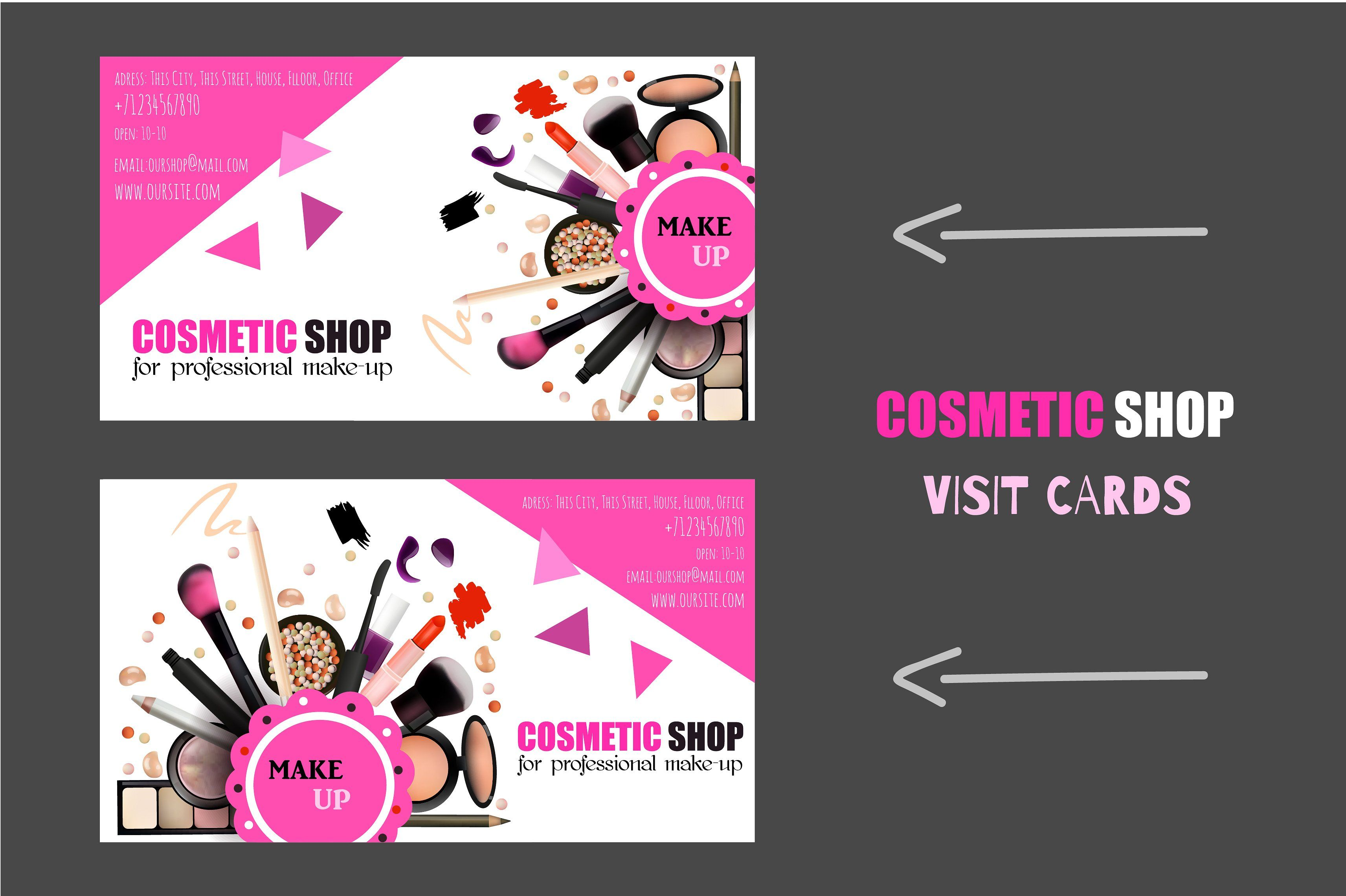 Cosmetic shop cards by gingerart on creativemarket