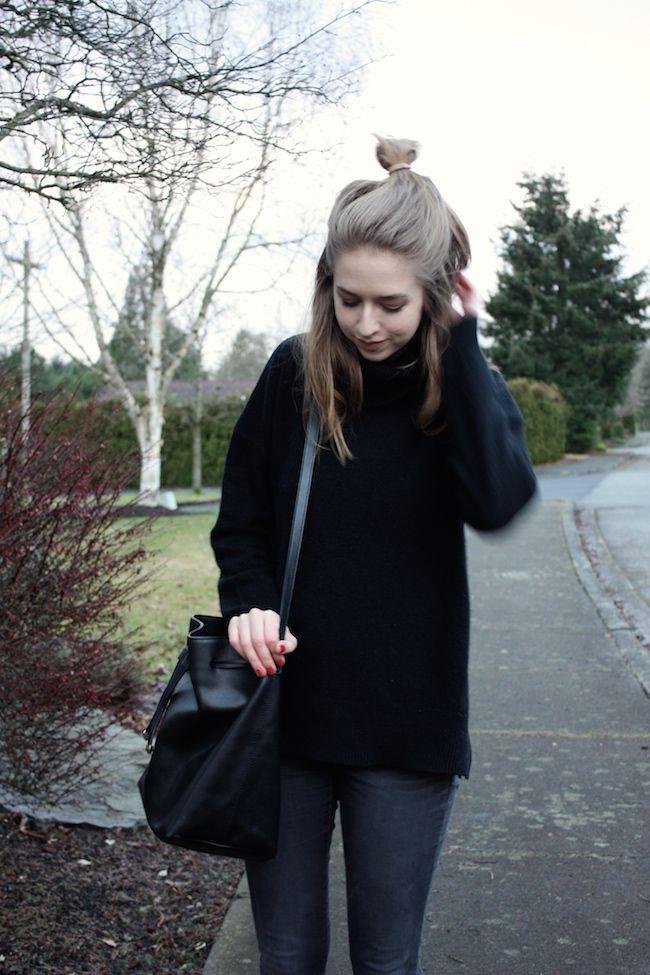 zipped Madewell sweater, No Rest For Bridget denim, Wessley NYC handbag, Vans slipons
