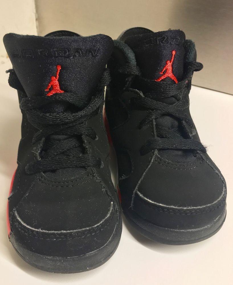 big sale 68a43 b08ed Nike Air Jordan 6 Retro TD Black Infrared 384667-023 Size 6C Kids   Toddlers   Nike  Athletic