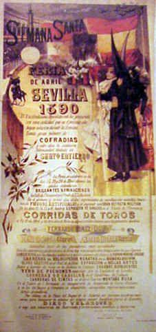 Cartel Feria de primavera de Sevilla 1890