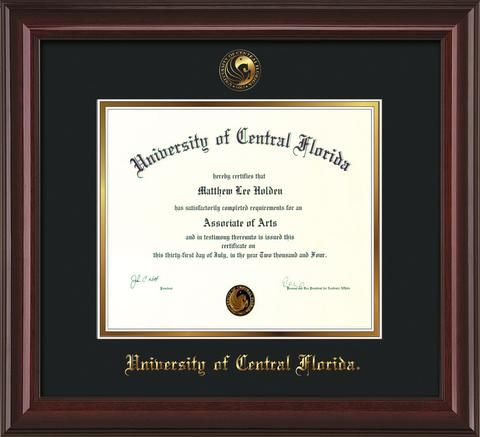 University of North Dakota - Embossed Seal - Mahogany Gold Trim ...