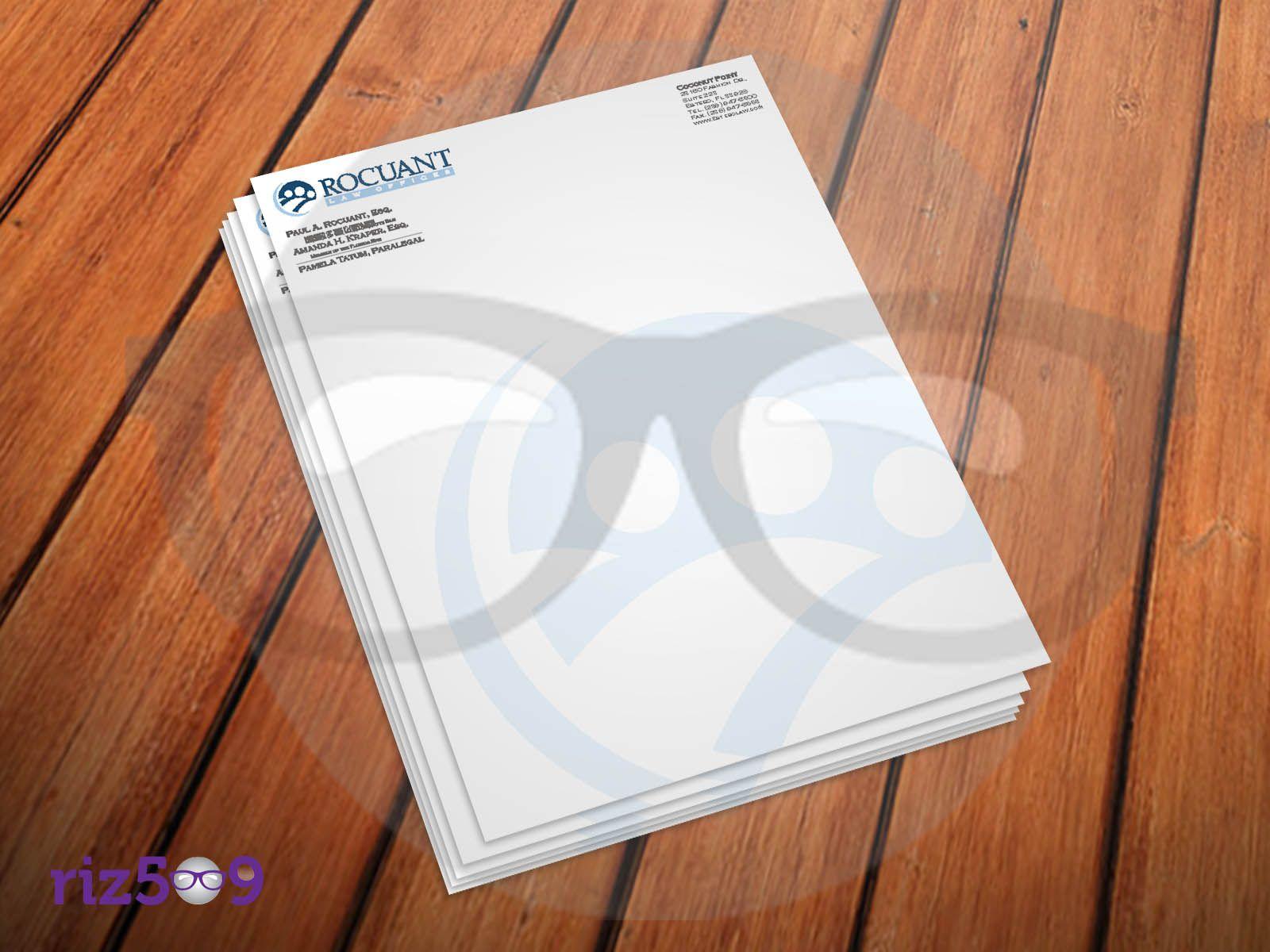 Letter Head Size 8 5 X11 Stock 100gsm Offset Paper Printing Three Spot Color Letterhead Design Letterhead Lettering