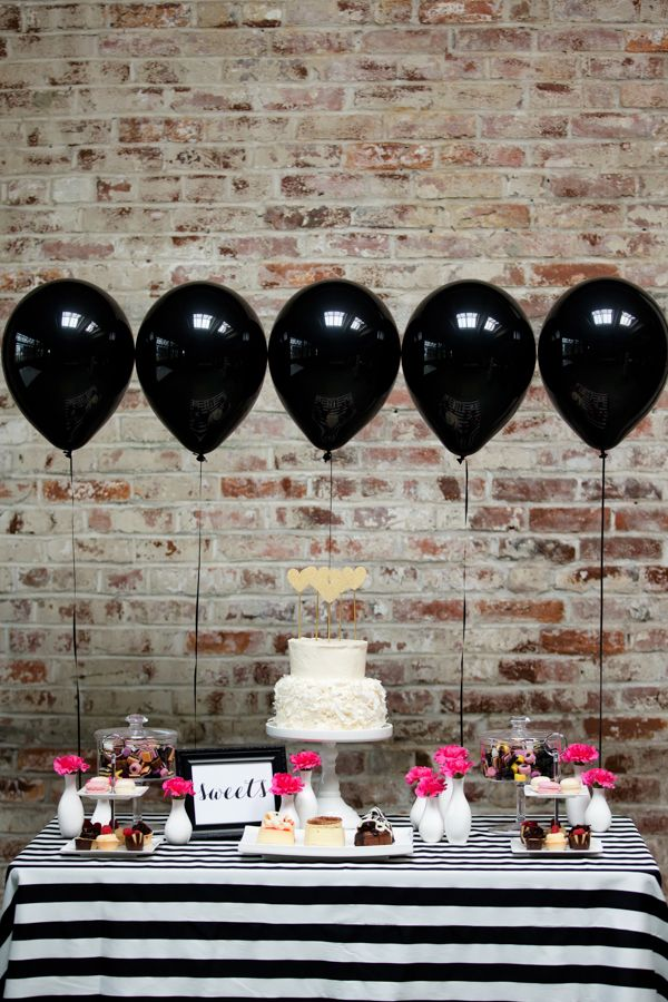 Dramatic Black And White Wedding Inspiration M A R R I A G E