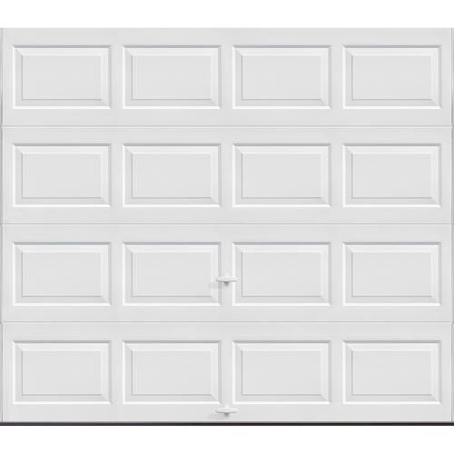 Standard Value Non Insulated Garage Door   8 Ft. Wide X 7 Ft. High   White    Solid, No Windows   Extension Springs With Radius Standard Lift Track