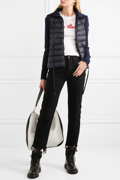 Stylish Shell In Down Cardigan And Wool Quilted Ribbed 2019 Moncler CedxorB