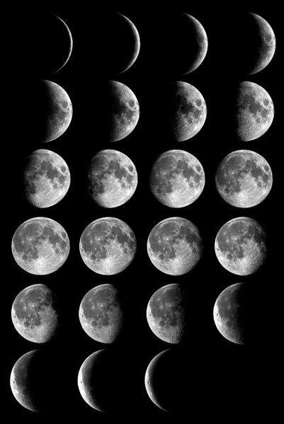 Croissants De Lune Lorsqu Elle Croit Lorsqu Elle Decroit Les Phases Lunaires Phase De La Lune Phases Lunaire Calendrier Lunaire