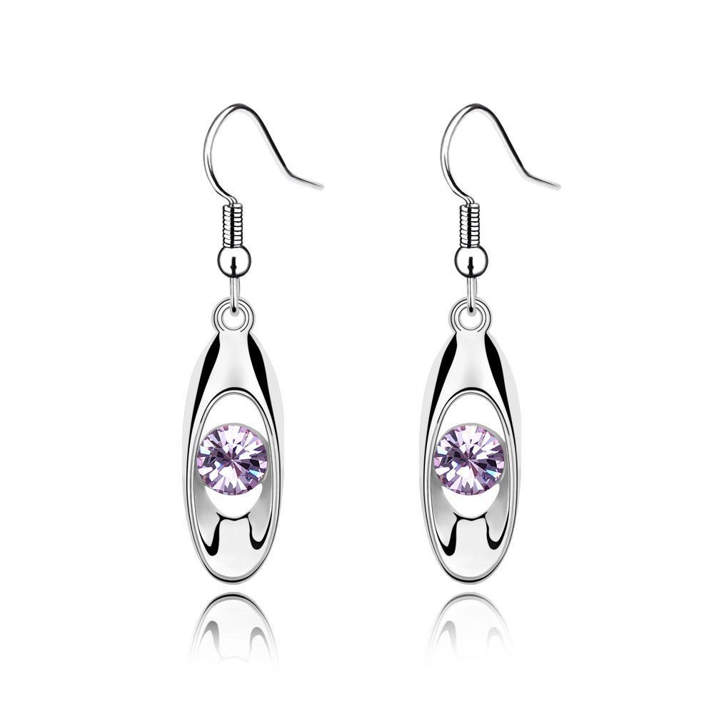 2016 New Design Crystal From Swarovski Fashion Contracted Pendant Earrings For Women Earrings Jewelry