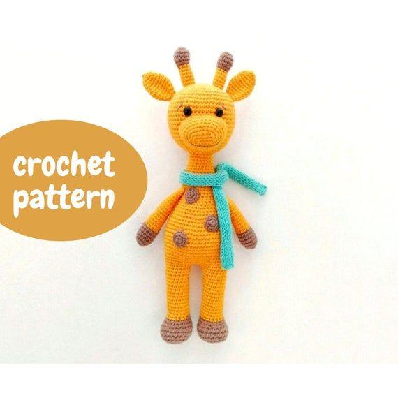 Crochet giraffe pattern toy,  Amigurumi giraffe pattern/ Сrochet doll Giraffe plush toy pdf tutorial #crochetgiraffepattern