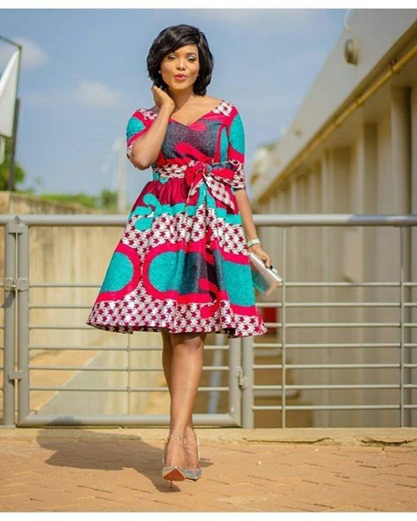 Latest african print dress styles