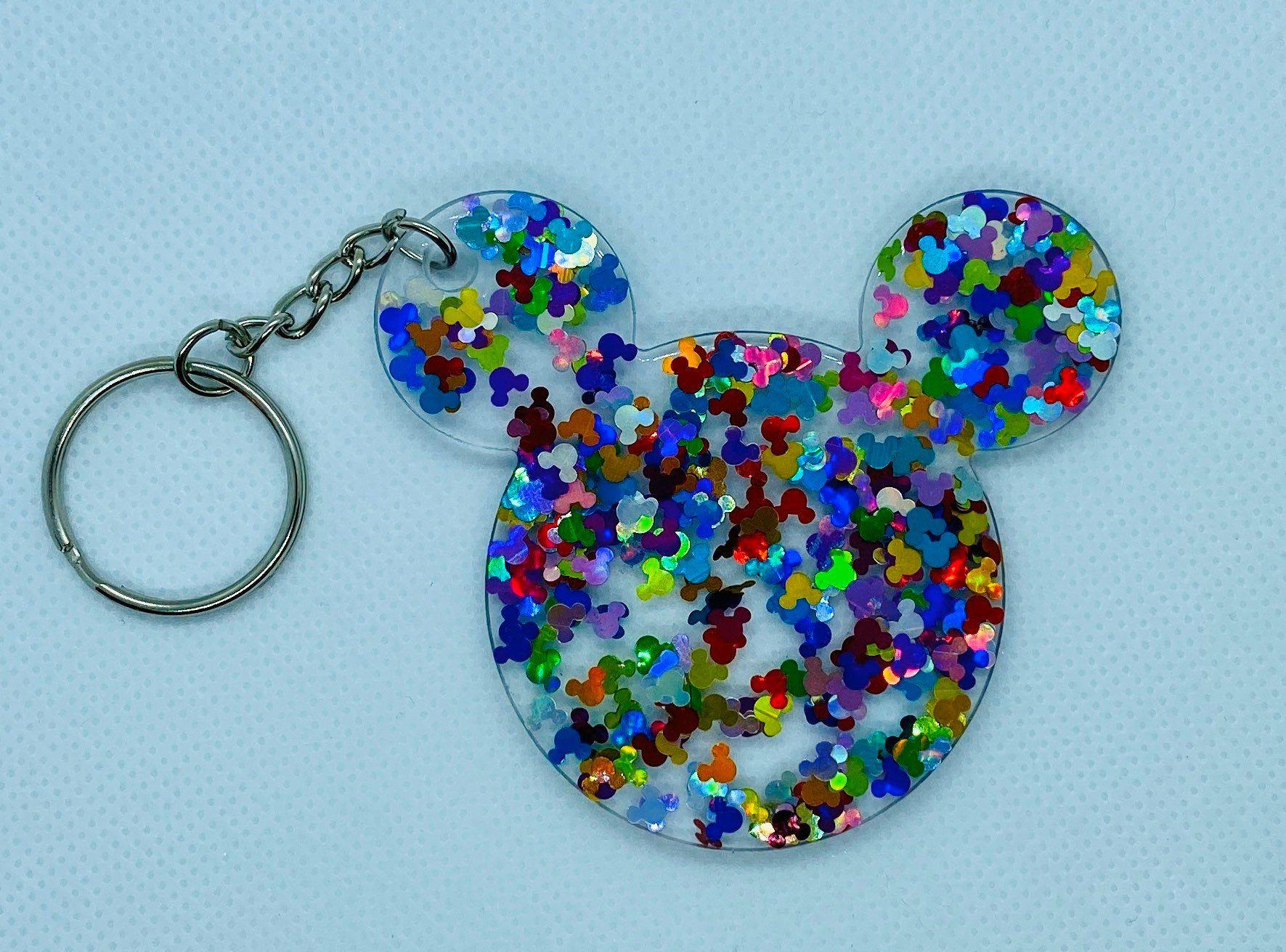 Mickey /& Minnie Resin Keychain