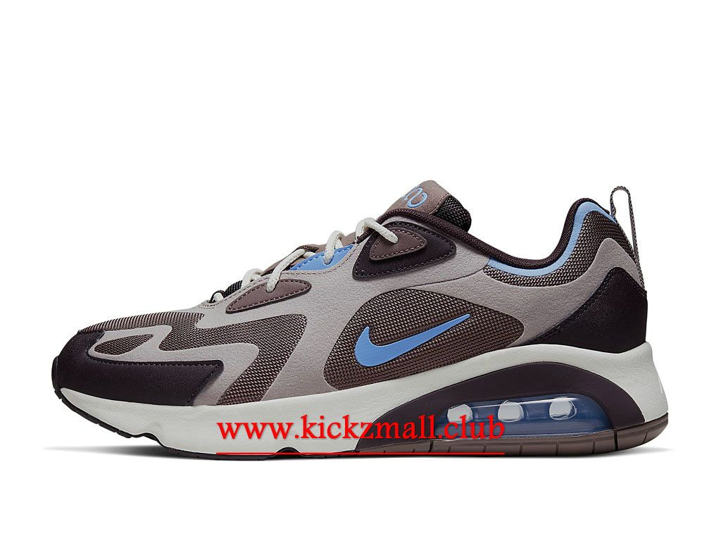 air max 200 noire bleue or