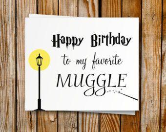 Harry Potter Birthday Card Handmade