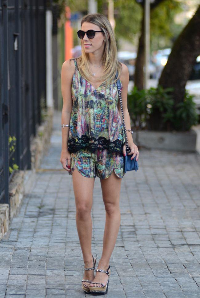 Glam4You por Nati Vozza | Meu look: Conjunto Estampa