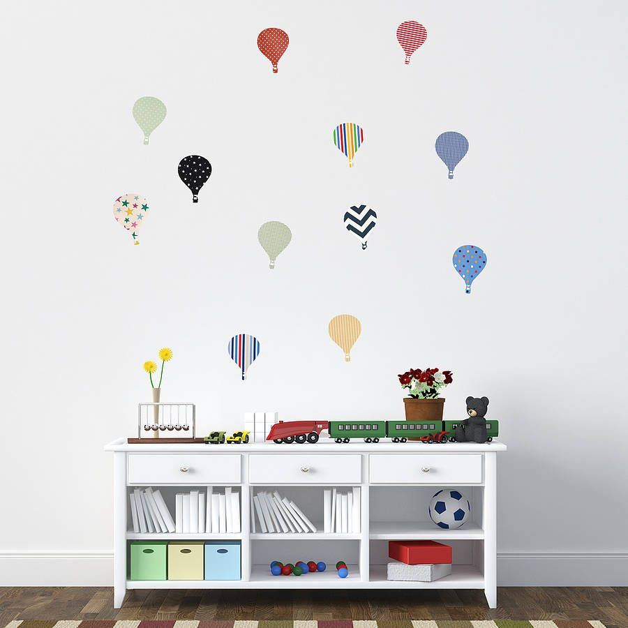 Childrens hot air balloon wall stickers balloon wall wall childrens hot air balloon wall stickers amipublicfo Images